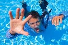 Drowning Businessman